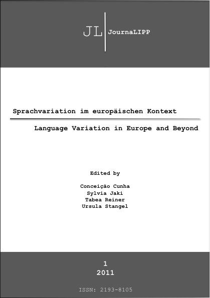 Ansehen Nr. 1 (2011): Sprachvariation im europäischen Kontext – Language Variation in Europe and Beyond