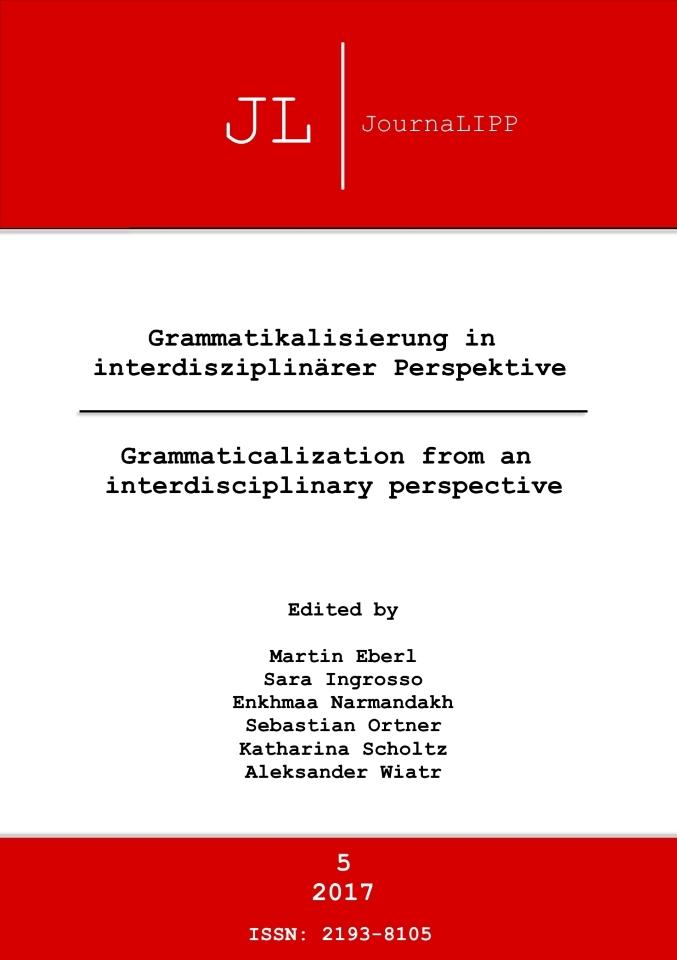 Ansehen Nr. 5 (2017): Grammatikalisierung in interdisziplinärer Perspektive - Grammaticalization from an interdisciplinary perspective